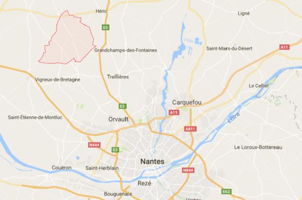 Notre-Dame-des-Landes est situé au Nord-Ouest de Nantes - DR : Google Maps