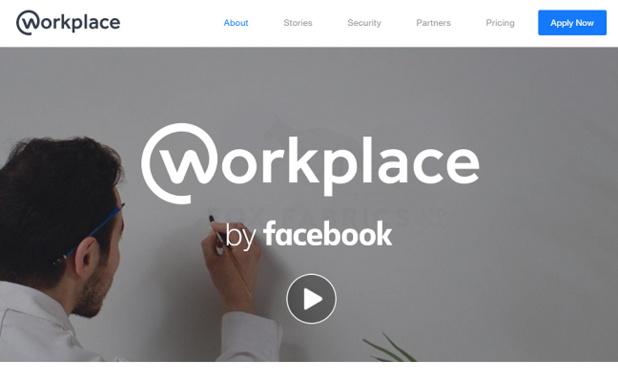 Workplace est un réseau social d'entreprise développé par Facebook - Capture d'écran