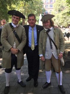 Le maire de Boston, Martin J.Walsh, a inauguré le 14 septembre dernier les nouveaux aménagements du Freedom Trail - DR