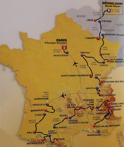 Le parcours du Tour de France 2017 - DR