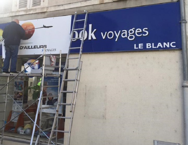 L'agence de voyages de Le Blanc est en train de changer d'enseigne - Photo : Terre d'Ailleurs / Facebook