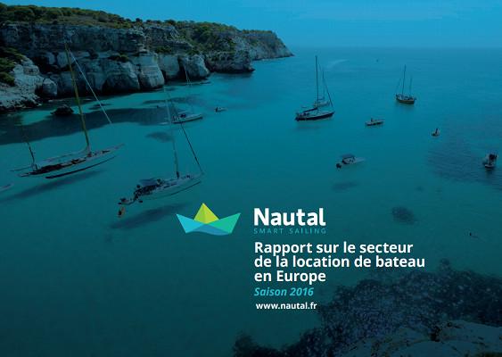 La couverture du premier rapport sur le marché de la location de bateaux en Europe, par Nautal - DR : Nautal