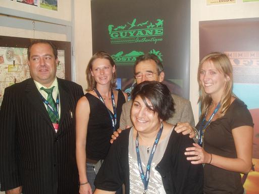 Philippe Gaillard, Fleur Coste, Marc Rey Robert, Candice Roche et Lydia Bardet