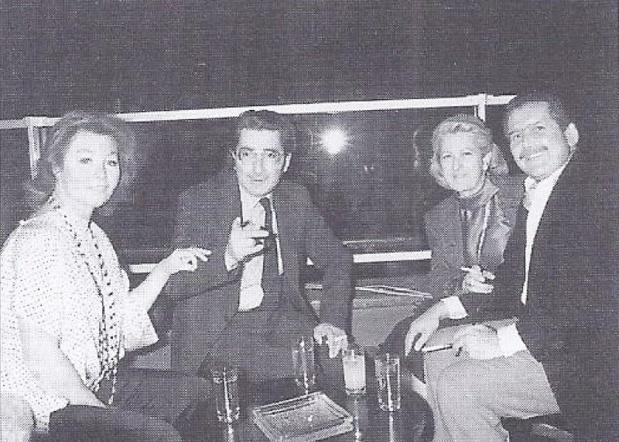 Dans les années 1960, Edmond et Nadine de Rothschild, avec Simone et Gilbert Trigano - DR : Avec l'aimable autorisation du Club Med