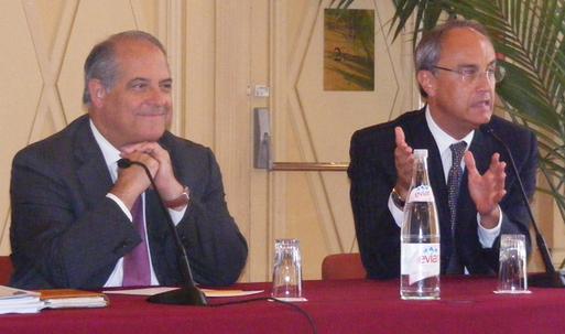 Bernard Lambres directeur général et Jean-Louis Biamonti, président de la SBM