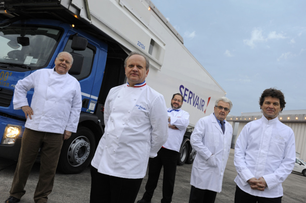 Les membres du studio culinaire Servair® © Patrick Delapierre / Air France