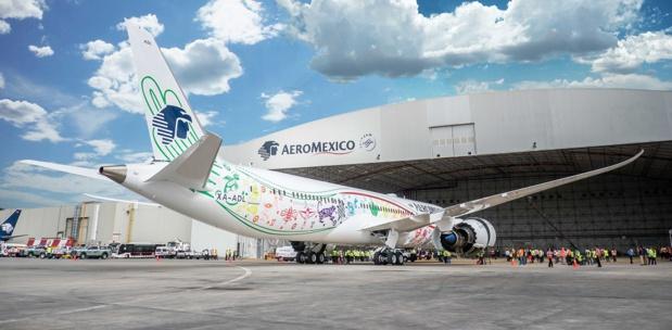 """Le B787-9 Dreamliner d'Aeromexico a été baptisé """"Quetzalcóatl"""" - Photo : Aeromexico"""
