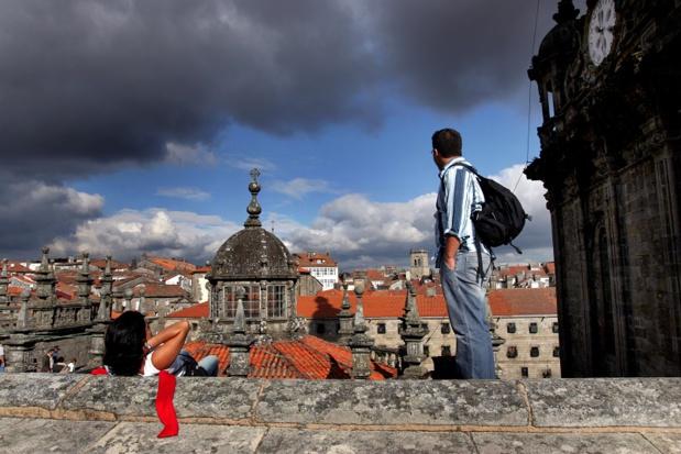 En passant par les toits, on a une vue unique sur toute la ville ainsi que sur les alentours de Santiago, du mont Pedroso jusqu'au mont d'O Gozo - DR : OT Espagne