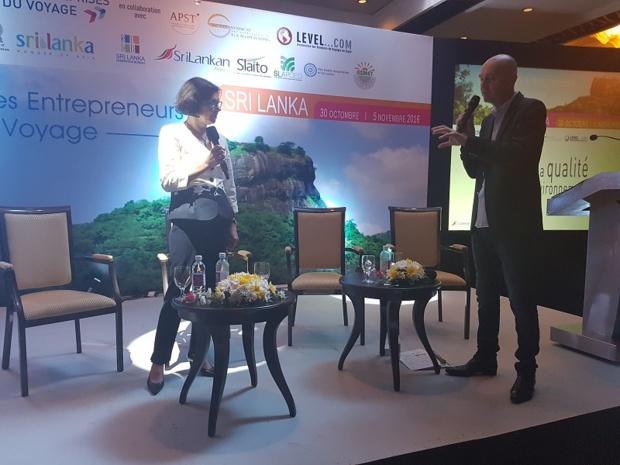 Alix Philipon, présidente de l'APST au Congrès des Entreprises du Voyage - Photo CE