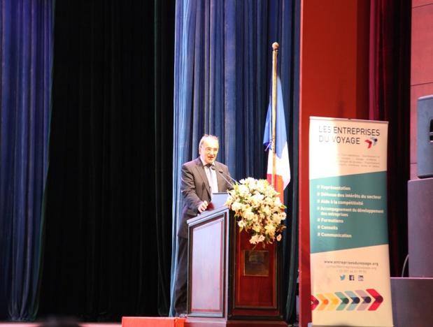 Jean-Pierre Mas, président des Entreprises du Voyage lors du congrès à Colombo - Photo JK
