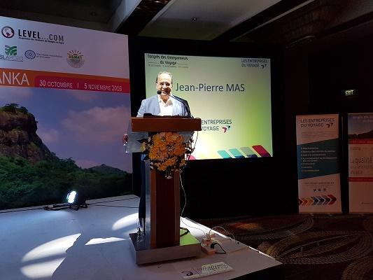 Jean-Pierre lors du congrès des Entreprises du Voyage au Sri Lanka - Photo : C.E.