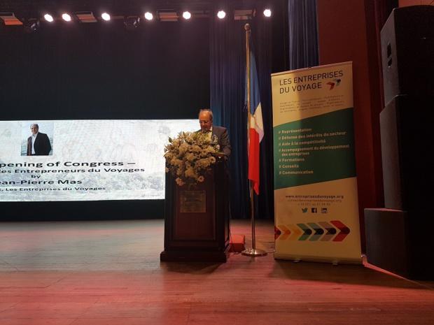 Jean-Pierre Mas, président des Entreprises du Voyage lors du Congrès au Sri Lanka - Photo CE