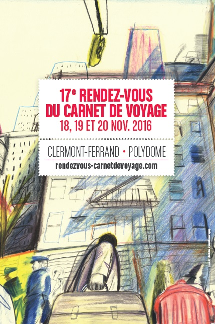 L'affiche de la 17ème édition des Rendez-vous du carnet de voyage à Clermont-Ferrand - Photo DR