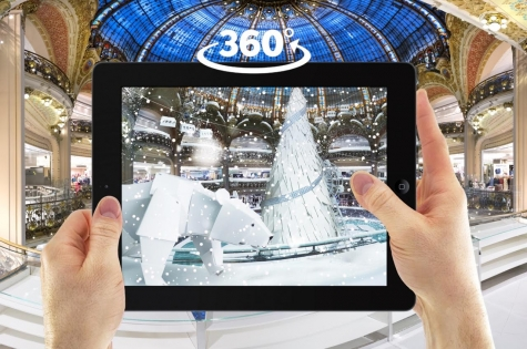 Les Galeries Lafayette propose une expérience immersive grâce à SKY BOY