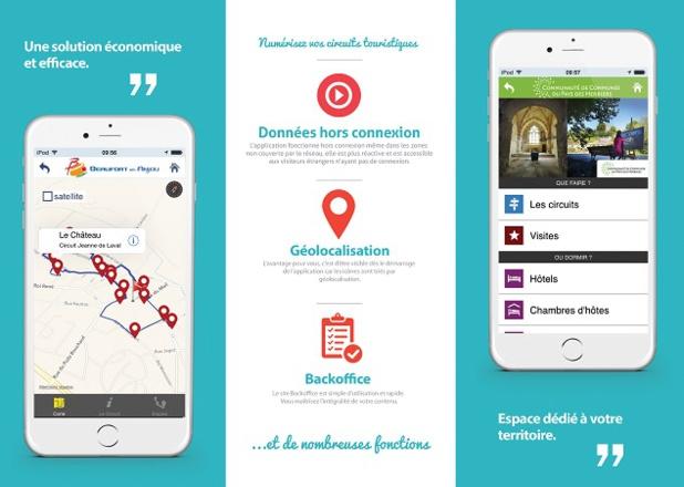 France Touristic est une application entièrement paramétrable par les OT et les collectivités qui l'utilisent - DR : France Touristic