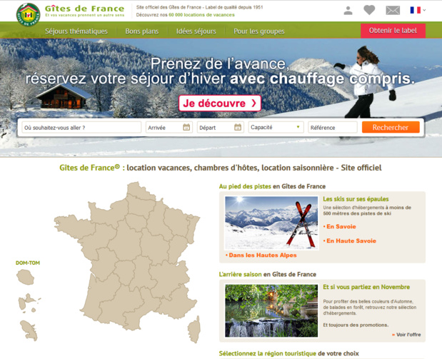 Les Gîtes de France s'inquiète de l'impact de loi de financement de la Sécurité Sociale pour 2017 (PLFSS) - Capture écran