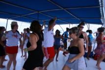 Sur le Catamaran, direction l'ile de Saona, la fête bat son plein – DR : HL
