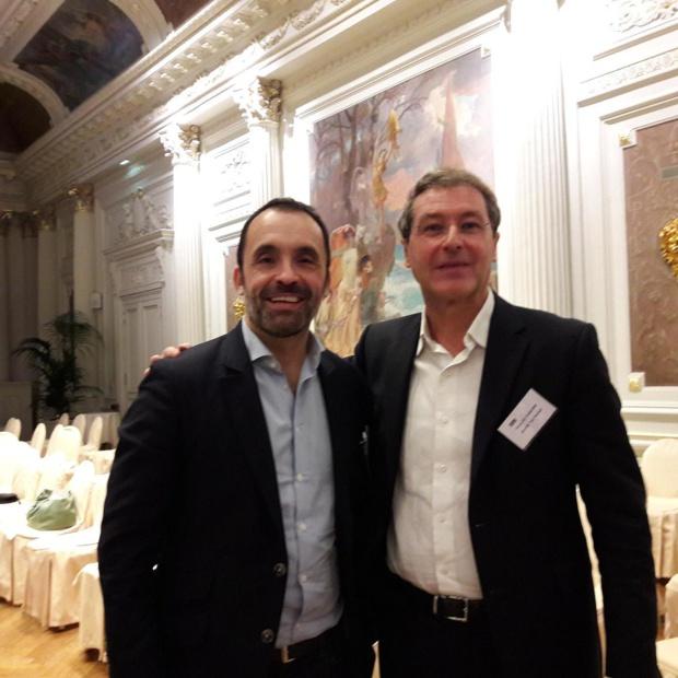 Pascal de Izaguirre pour TUI France et Nicolas Delord pour Thomas Cook France participaient aux journées des dirigeants Manor.  MS.