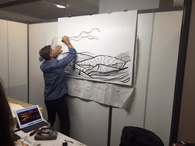 Un atelier à l'occasion de la 17ème édition du Rendez-vous du Carnet de Voyage - DR