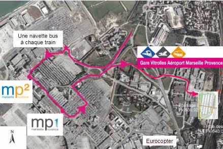 Marseille provence nouvelle gare ferroviaire vitrolles a roport en d cembre - Train marseille salon de provence ...
