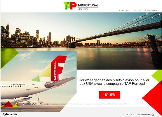 Le jeu de TAP Portugal est en ligne du 28 novembre au 3 janvier 2017 - DR : TAP Portugal