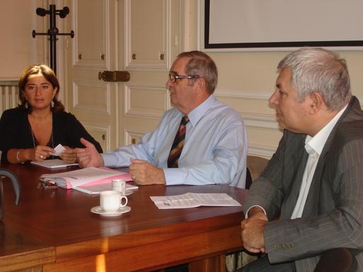 Ce matin au SNAV G. Colson entouré de V. Boned (Directeur juridique) et J.-M. Rozé (Secrétaire général)