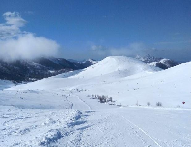 A 20 minutes de Bastelica, le plateau d'Ese se couvre parfois de blanc au plus fort de l'hiver - Photo Page Facebook La station du Val d'Ese