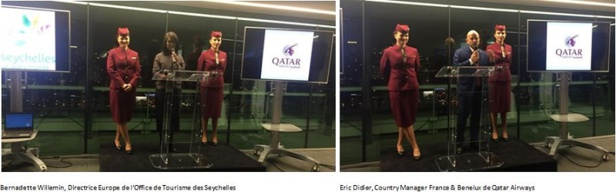 Qatar Airways fête le vol Paris - Seychelles via Doha à la maison de la radio