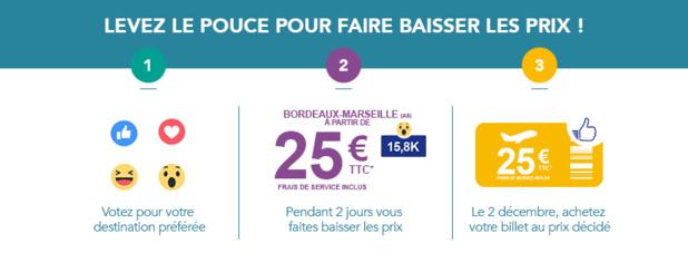 HOP! Air France fait baisser le prix des billets sur Facebook !