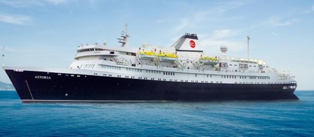 """La croisière """"Routes Brésiliennes"""" et la transatlantique se feront à bord du M/S Astoria - DR : Rivages du Monde"""