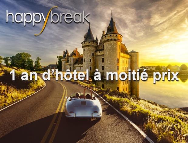 Happybreak, la 1ère carte de réduction hôtelière multi-enseignes, vient de finaliser sa première levée de fonds de 1 million d'euros, le Groupe Duval fait partie du tour de table - DR