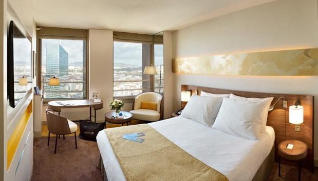 Le Radisson Blu Lyon offre 245 chambres et  500 m² d'espaces business dédiés aux séminaires et aux conventions - DR : Radisson Blu