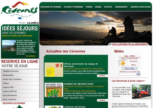 Cevennes-tourisme.fr fait peau neuve