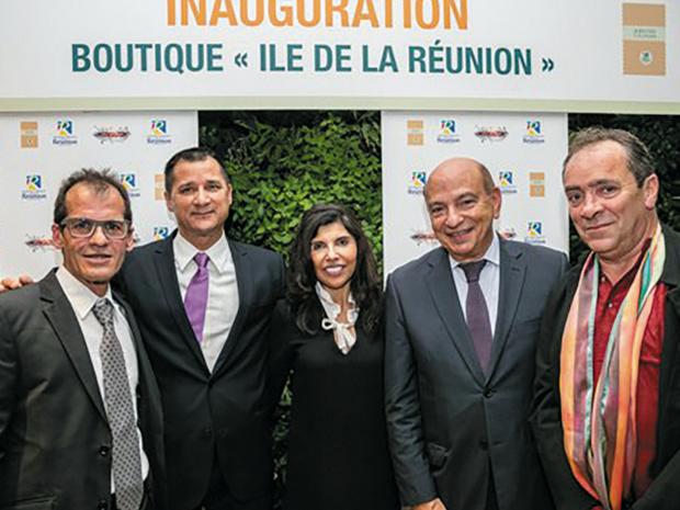 """Inauguration boutique """"Île de la Réunion"""" © DR"""