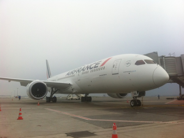 L'arrivée du premier Dreamliner d'Air France à Paris - DR : LAC