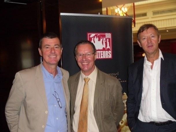 Philippe Marquenet entouré par Didier Rabaux et Didier Blanchard - DR : M.S.