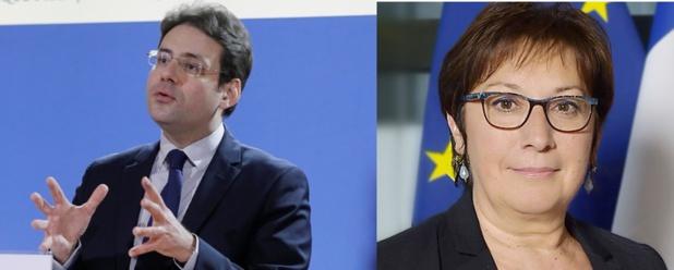 Matthias Fekl (à gauche) et Martine Pinville (à droite) restent dans leurs fonctions de secrétaire d'Etat - Photos : Gouvernement.fr