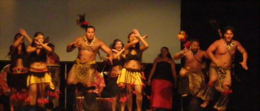 La soirée s'est ouverte sur un remarquable spectacle polynésien