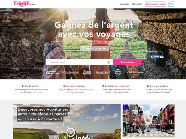 Tripilli est une plateforme collaborative qui permet aux particuliers de partager leurs expériences de voyage et de les vendre à d'autres voyageurs (c) Tripilli