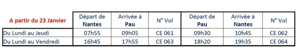 Chalair Aviation : nouvelle ligne Nantes - Pau