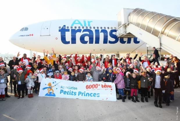 Air Transat a embarqué, jeudi 7 décembre 2016, une cinquantaine d'enfants, à bord d'un Airbus A330 - DR : Air Transat