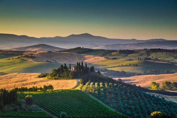 Paysage en Toscane au coucher du soleil © JFL Photography - Fotolia.com
