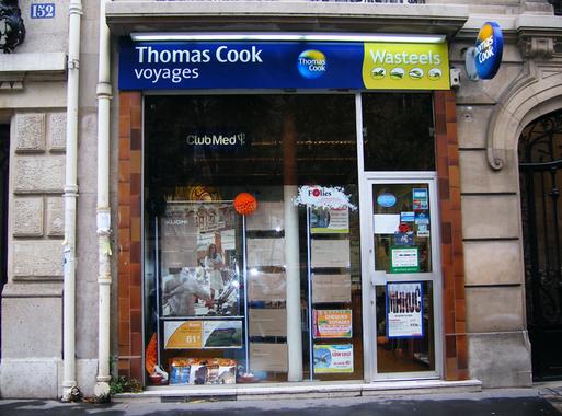 Une agence parisienne Wasteels/Thomas Cook porte close hier après-midi