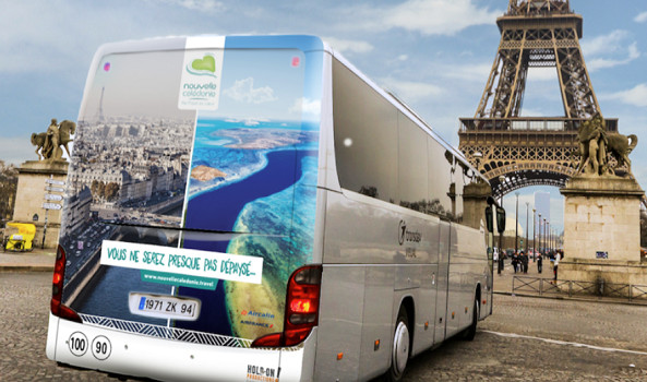 La campagne internationale de Nouvelle Calédonie Tourisme débute le 23 décembre avec l'affichage à Paris - Photo : Nouvelle Calédonie Tourisme