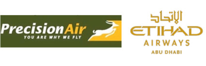 Etihad Airways en code share avec Precision Air (Tanzanie) - DR