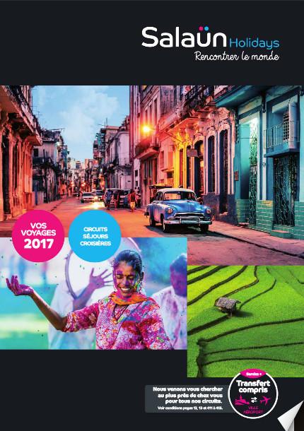 """La nouvelle brochure """"Vos Voyages"""" 2017 de Salaün Holidays - DR"""