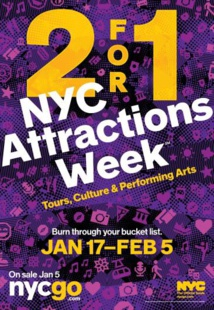 New York : lancement de l'offre NYC Attractions Week