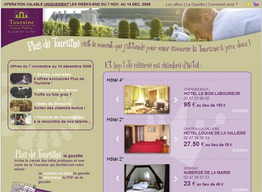 Opération ''Plus de Touraine'' propose 1 000 chambres à moins 50 %