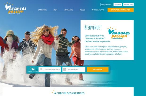 Le nouveau site de Vacances Passion de la Ligue de l'Enseignement - Capture écran