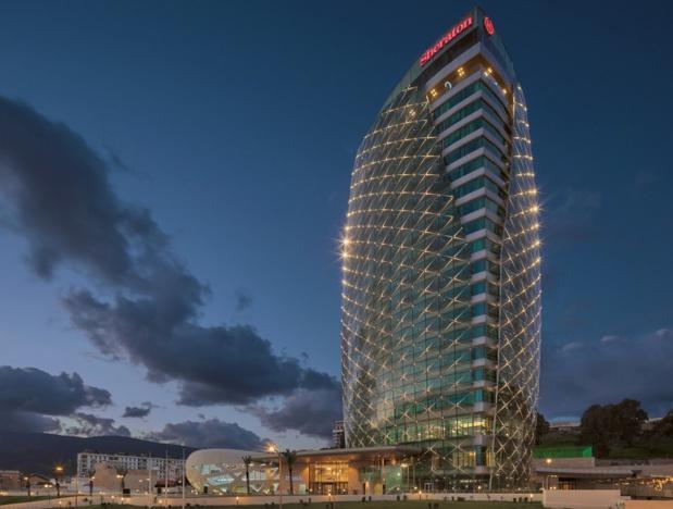Le Sheraton Annaba dispose de 201 chambres, dont 15 suites exécutives et une suite présidentielle, réparties sur 18 étages - DR : Marriott International